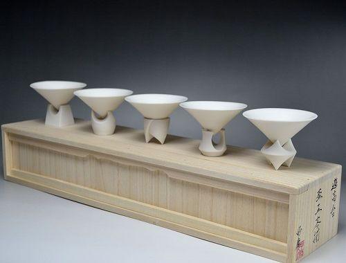 Kato Yoshiyasu 5 pc. Sake Cup Set, One of a Kind