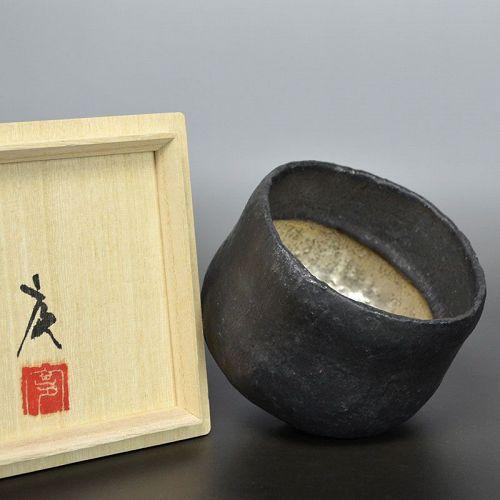 Ito Keiji Silver Glazed Chawan Tea Bowl
