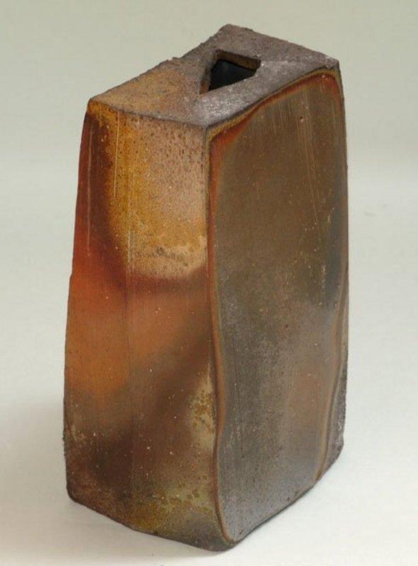 Radical Square Bizen Vase by Donna Gilliss