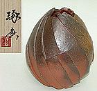Exceptional Sculpted Bizen Vase by Watanabe Takuma