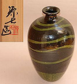 Large Tokkuri Vase by Takemoto Genhichi