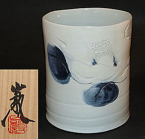 Porcelain Vase by Kyoto Master Kato Iwao