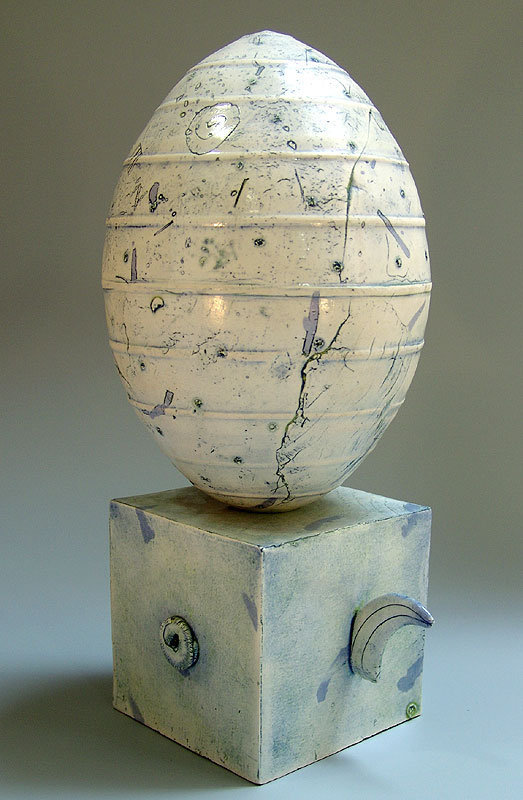 Modern Pottery Sculpture by Matsumoto Hideo