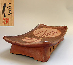 Contemporary Bizen Pottery Table by Shibaoka Nobuyoshi