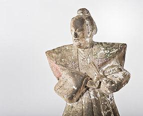 Antique Samurai doll made of Fushimi clay 19th.century