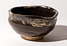 Japanese antique Seto Tea Bowl with great atmosphere