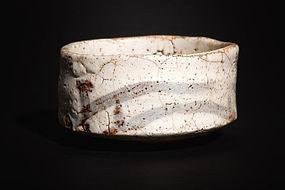 Old Meiji Period Shino Chawan - Momoyama Shape