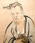 Hermit with tortoise in KANO-HA Style Hanging Scroll