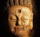 Antique wooden Buddha - 250 years old from China