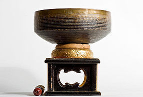 Buddhist Bronze Bell from 1860 Temple S¨­fuku-ji