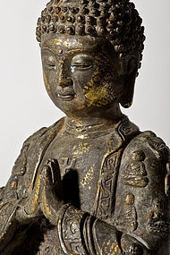 Bronze Buddha Tibeto-Chinese from 19th. century