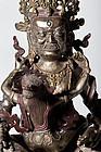 19th. century Tibeto Chinese YabYum Bronze Statue