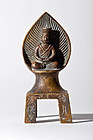 Chinese Bronze Buddhist Votive Shrine mid. 19th. cent.