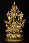 18th. century Sino Tibetan Bengal style bronze Buddha