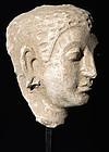 Gandharan Stucco Buddha Head 300 A.D.