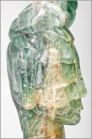 Chinese fluorite carving of Guanyin 18th.cent.