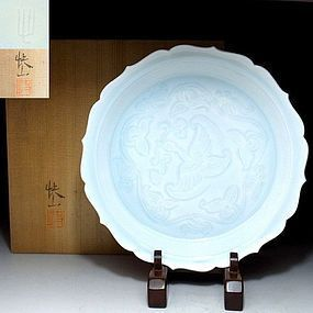Tea Plate by Living National Treasure Kaiji Tsukamoto