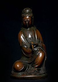 Large Chinese Bronze Buddha with Kangxi Mark 17th.cent.