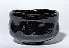 Tea Bowl by great Chozaemon Ohi with judgement box
