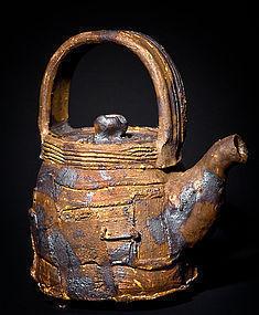 Large Irabo Tea Pot by legendary Takeuchi Shugo