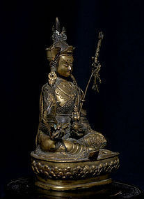 Chinese Antique Qing Dynasty Bronze Buddha Marked