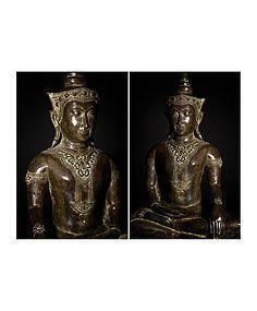 Huge 18th/19th century Bronze Ayutthaya Buddha Statue