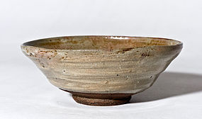Hakeme Glazed Ko-Hagi Chawan by the first Saka Koraizaemon