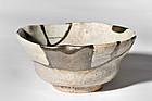 Momoyama Period Ko-Karatsu tea bowl with Nashiji-Makie Gold Dust