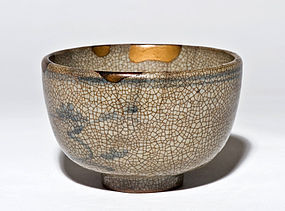 17th century Kihara-Karatsu Chawan with old Kintsugi Gold