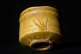 Early Edo Period Ki-Seto Chawan with beautiful shape