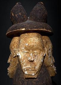 Antique Aghogho Igbo Helmet Mask