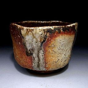 Early Meiji/late Edo Period Shigaraki Chawan with wabi-sabi aesthetic