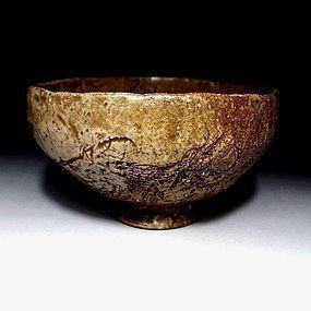 Japanese Edo Shigaraki Chawan with great atmosphere