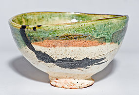 Artistic contemporary Chawan by star potter Koie Ryoji