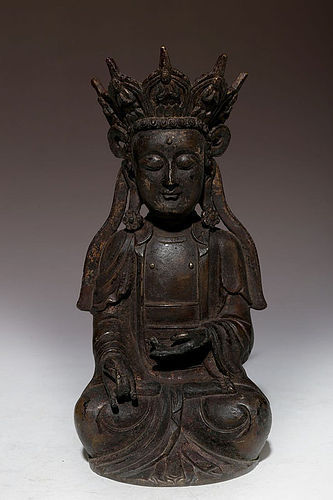 Early Qing Dynasty Bronze Buddha