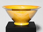 Large Imperial Yellow Chinese Bowl signed Guangxu  (ca.1880)