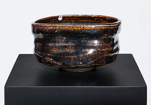 Oribe Chawan of early Edo Period with rare brown glaze