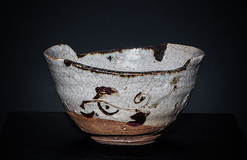 Extremely rare Karatsu Hissen Chawan of early Edo Period