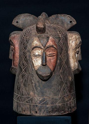 Large Fang Ngontang helmet mask from Gabon
