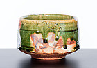 Mint Oribe Chawan by greatest Matsuzaki Ken