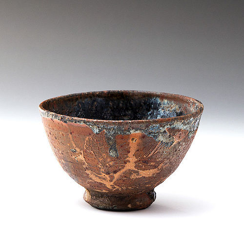 Contemporary wood fired chawan by great artist Nic Collins