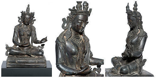Wonderful Chinese Bronze Buddha with Yongle Mark