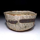 Vintage Mino Chawan with great wabi-sabi aura
