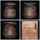 Massive Antique Japanese Iga Vase Edo Period