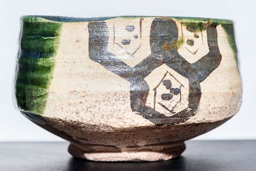 Early 17th cent. Ao-Oribe Chawan