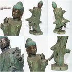Chinese Buddha Statue 19th cent. Bronze on Teakwood