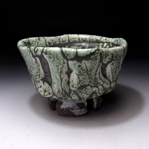 Mint and large Masterpiece Chawan by Seigan Yamane