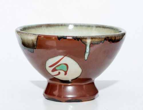 Mint Chawan in Museum Quality by Shimaoka Tatsuzo
