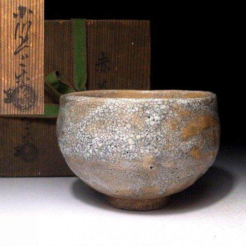 Antique Raku Chawan by greatest 1st Choraku Ogawa