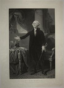 "Gilbert Stuart, engraving, ""George Washington"""